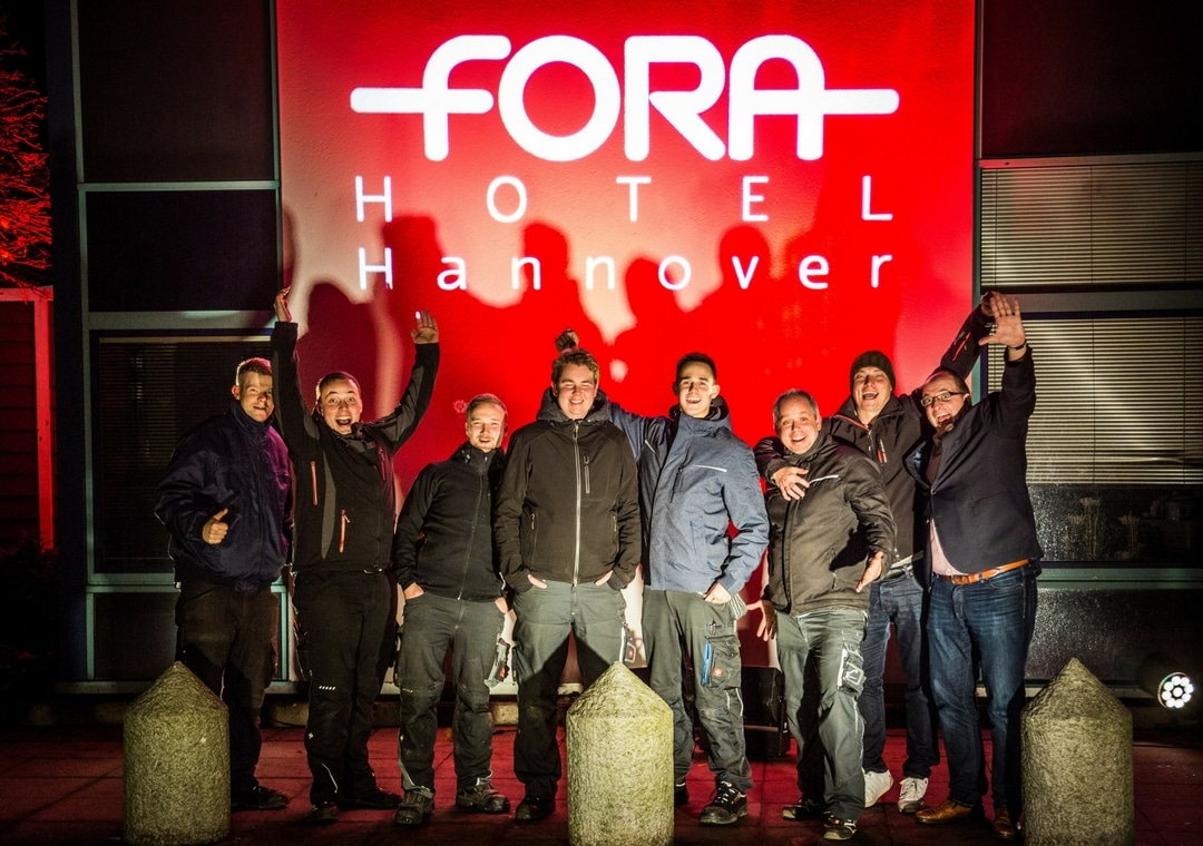 Fora Hotel Hannover Beleuchtungsteam