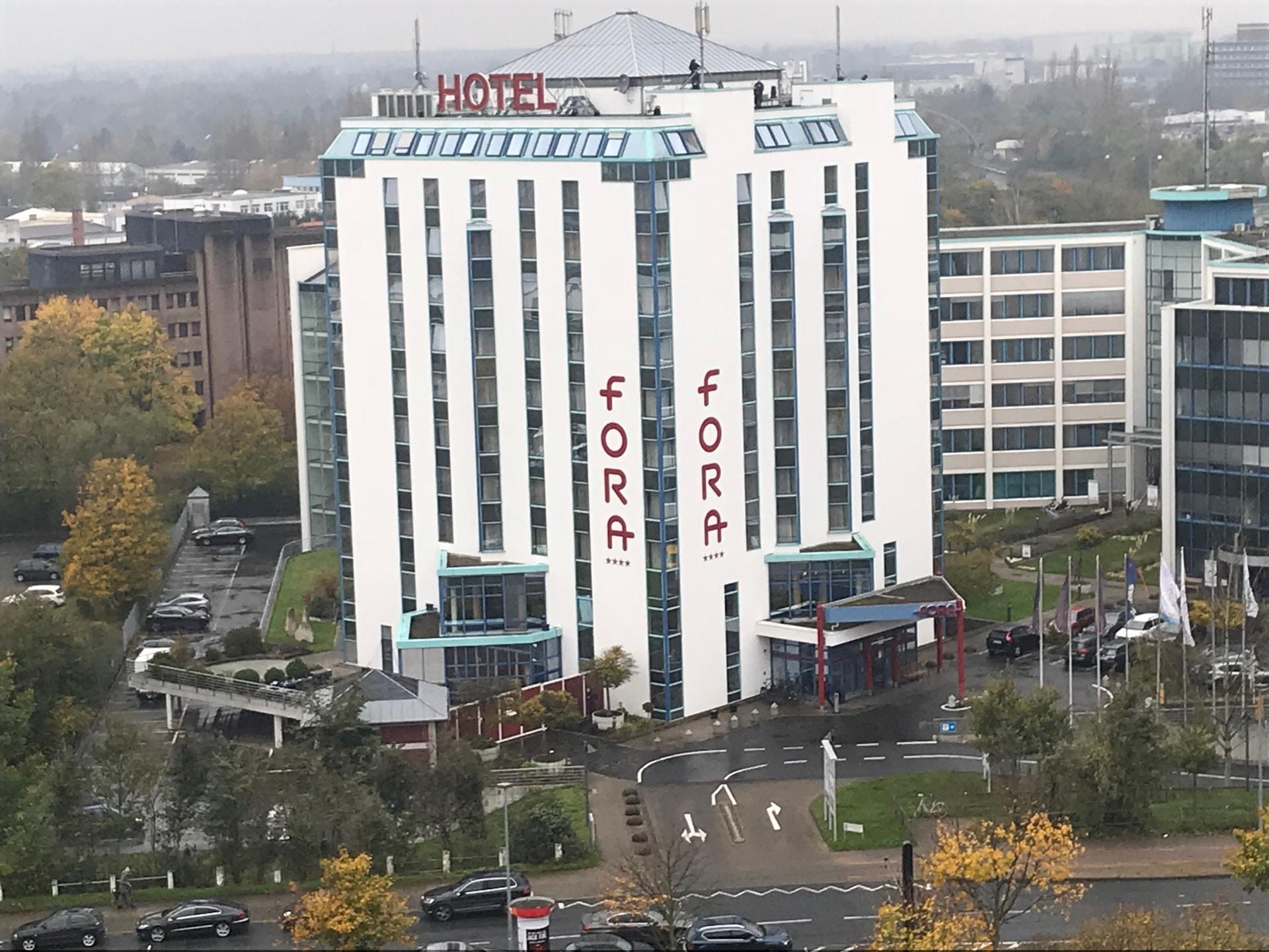 Fora Hotel Hannover unbeleuchtet