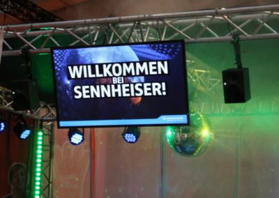 Messestand Sennheiser