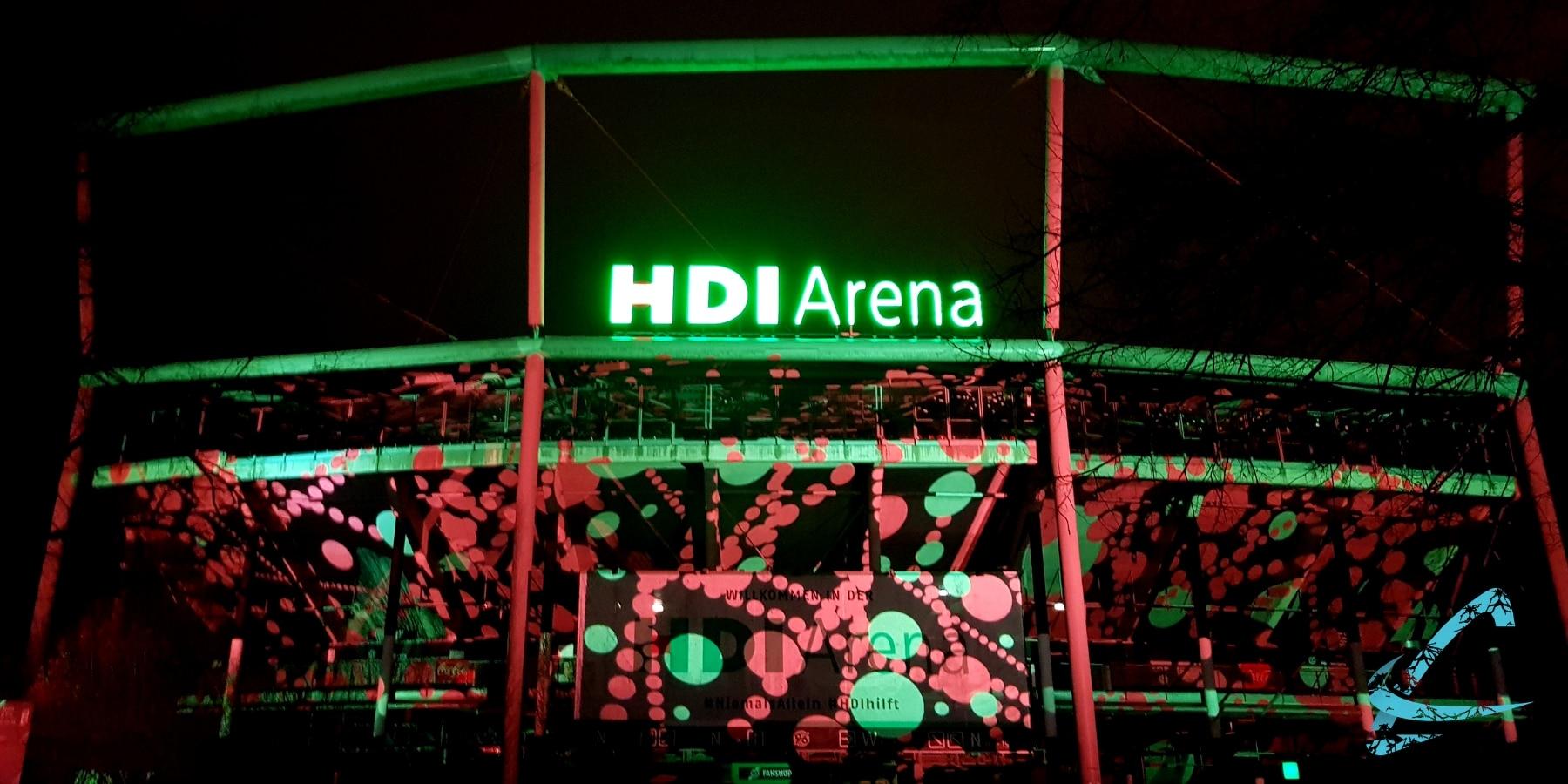 Projektion HDI Arena