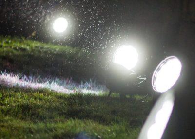 Marienburg Illumination Scheinwerfer im Regen