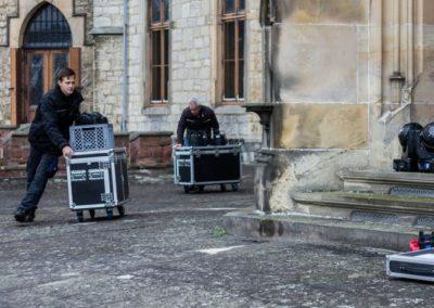 Marienburg Illumination Vorbereitungen