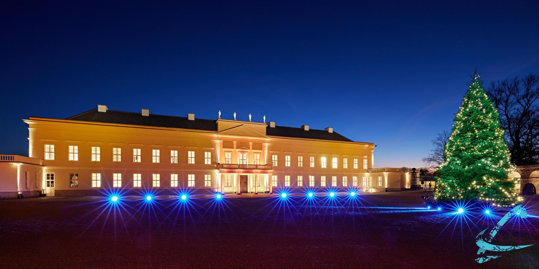 Weihnachtsaufnahme Schloss Herrenhausen